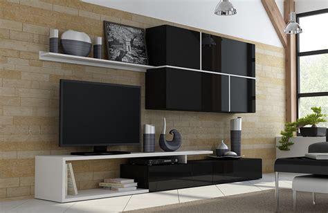 white tv wall unit high gloss tv wall unit goya white black