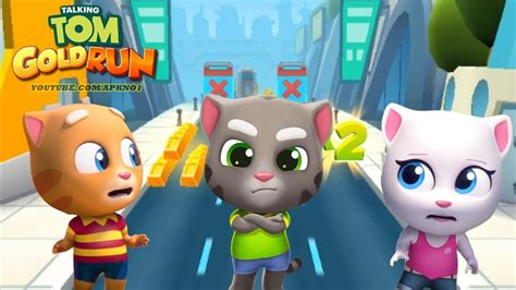 talking android talking tom gold run android gameplay talking tom vs talking angela vs talking in cyber