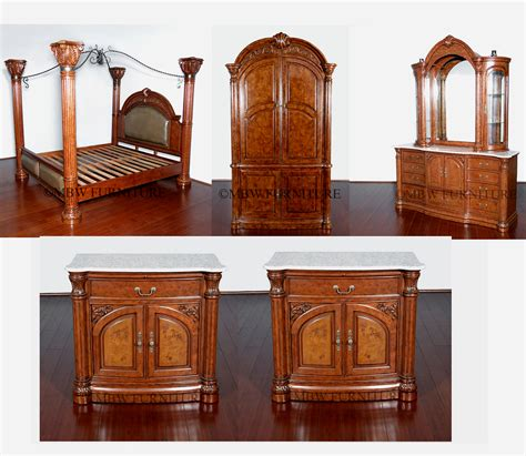 monte carlo bedroom set monte carlo 6pc bedroom set mahogany finish w canopy