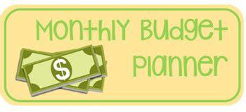 monthly budget planner  simply stem teachers pay teachers