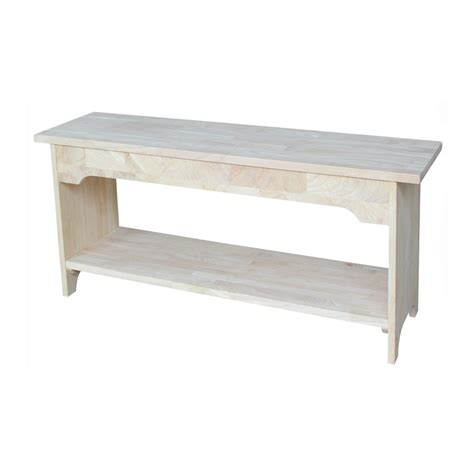 lowes storage bench shop international concepts brookstone traditional natural