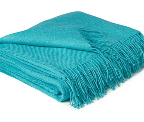 Fringe Home Decor by Robin S Egg Blue Teal Baby Alpaca Throw Blanket Ultimate