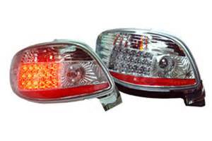 led len peugeot 206 206 led tail light clear chrome housing 98 06