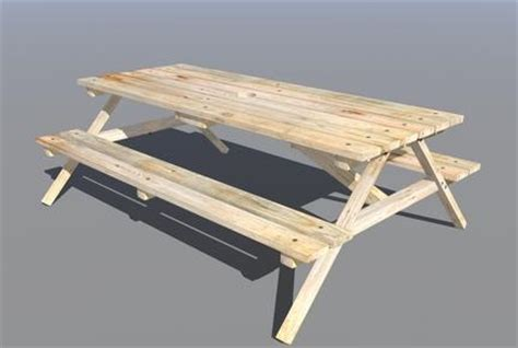 bench 3d model wooden picnic bench 3d model sharecg
