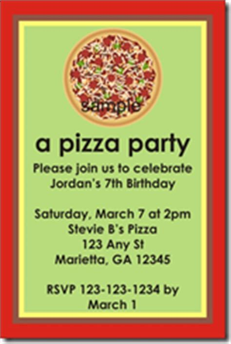 free printable pizza party flyers party invitations ideas