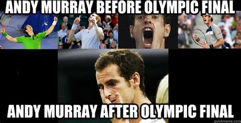Andy Murray Meme - andy murray before olympic final andy murray after olympic