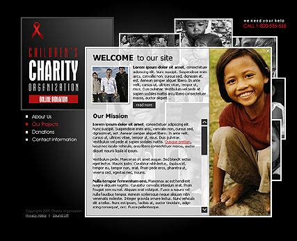 charity site templates charity flash site template