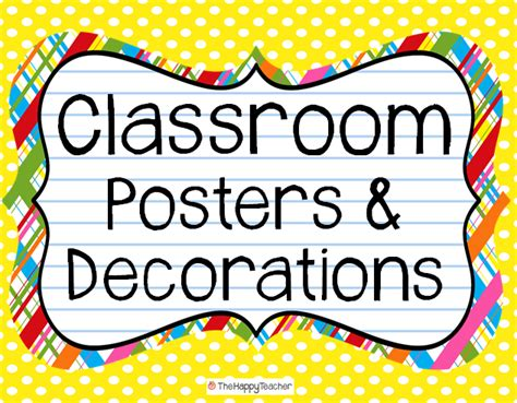 printable classroom area signs thehappyteacher classroom posters