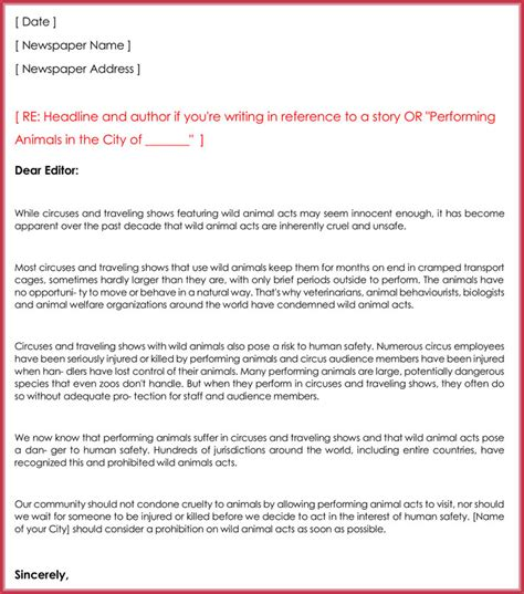 layout letter to editor letter to the editor templates 10 sles formats