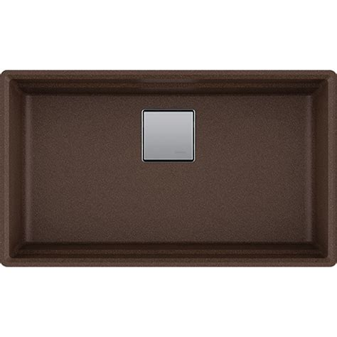franke granite kitchen sinks franke pkg11031moc peak 32 inch undermount single bowl