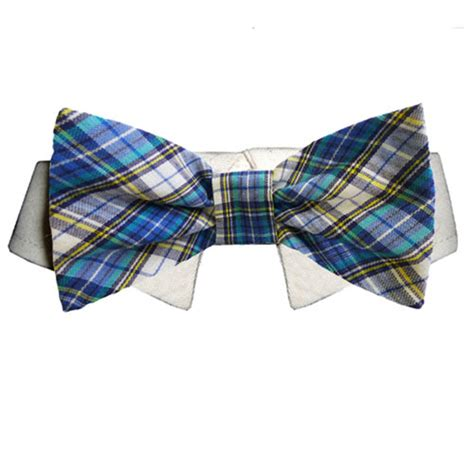 isaac shirt collar and bow tie blue and yellow plaid baxterboo