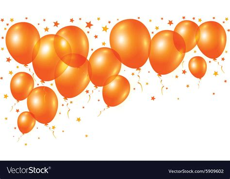 up a balloon with orange orange balloons on white background royalty free vector