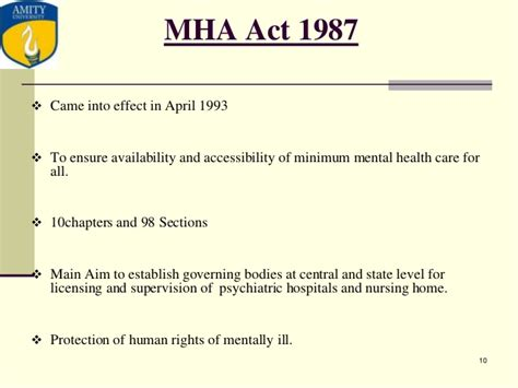 mental health act forensic sections new mental health act tanu ppt