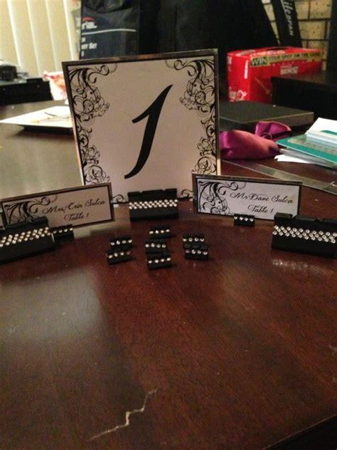 diy table card holders diy binder clip placecard and table holders weddingbee