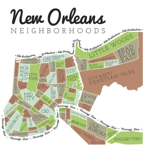 sections of new orleans new orleans neighborhood map new in nola