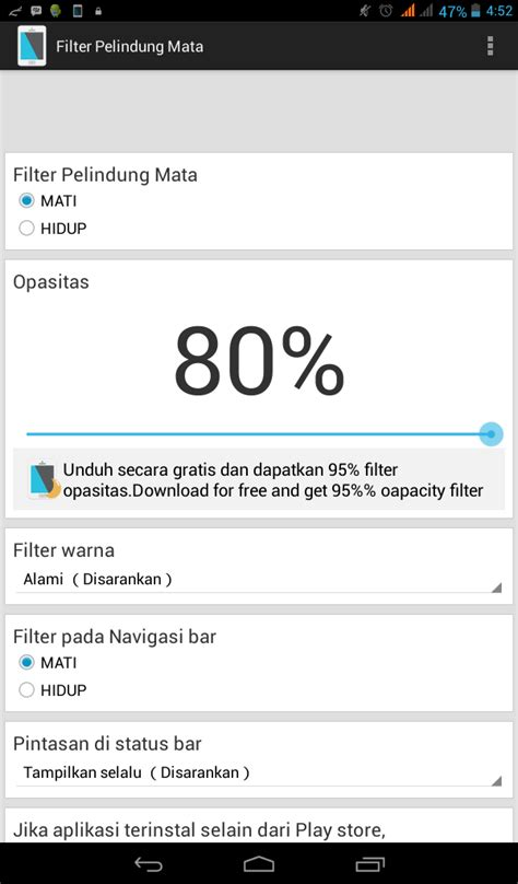 Pelindung Hp Android Filter Pelindung Mata Aplikasi Peredup Layar Android