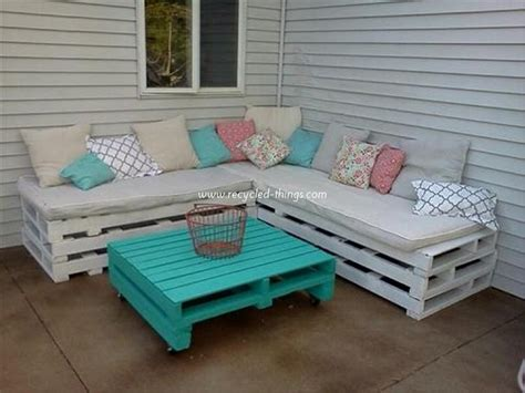 Pallet Outdoor Furniture Plans Recycled Things How To Build Pallet Patio Furniture
