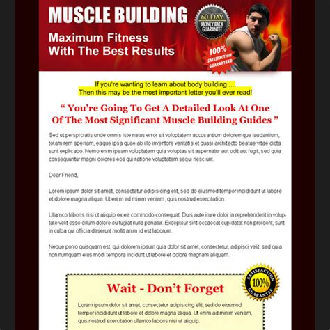 Sales Page Landing Page Design Templates For Your Online Internet Marketing And Affiliate Marketing Fitness Landing Page Templates