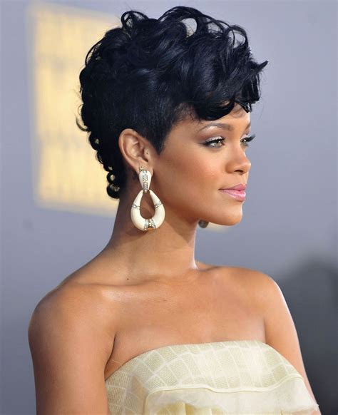 Rihanna Mohawk Hairstyles by Rihanna Curly Mohawk Hairstyles Hairstyles Ideas