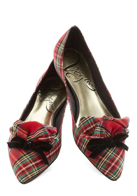 plaid flat shoes footwork and play flat