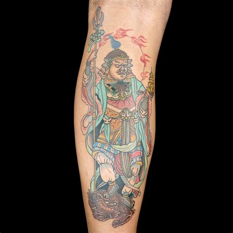 olde town tattoo asian deity by town ink dj tambe bubba irwin