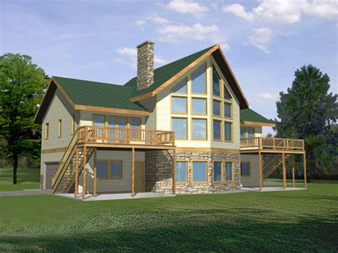 Waterfront Home Plans | waterfront house with narrow lot floor plan waterfront