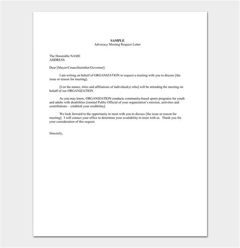 appointment letter request mail meeting appointment letter 5 sles formats