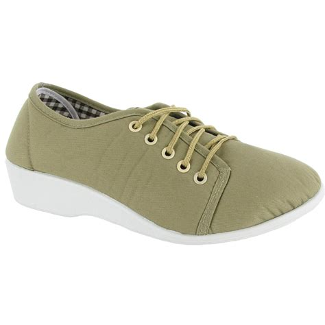 mirak bounty womens lace up canvas summer casual