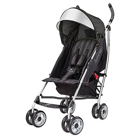 Summer 3d Lite Convenience Stroller Pink 1 buy summer infant 174 3d lite convenience stroller in black silver from bed bath beyond