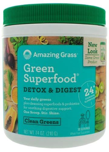 Superfoods Detox Diet by Green Superfood Detox Digest By Amazing Grass Freshest