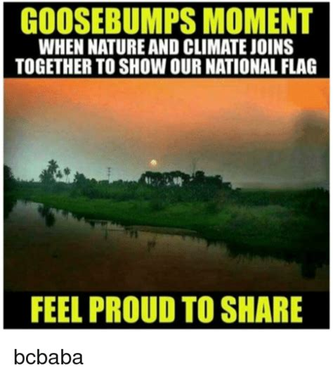 Goosebumps Meme - goosebumps moment when natureand climatejoins together to