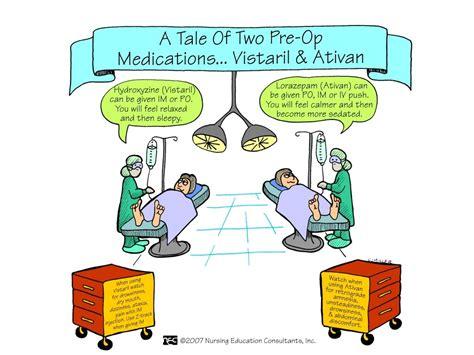 Visteril For Detox by Pre Op Meds Ativan Vistaril Nursing Mnemonics And Tips