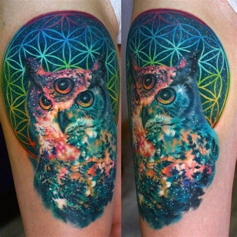 lsd tattoo design 47 best owl tattoos of all time tattooblend