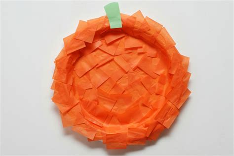 Orange Craft Paper - these thanksgiving crafts for are easy enough for the