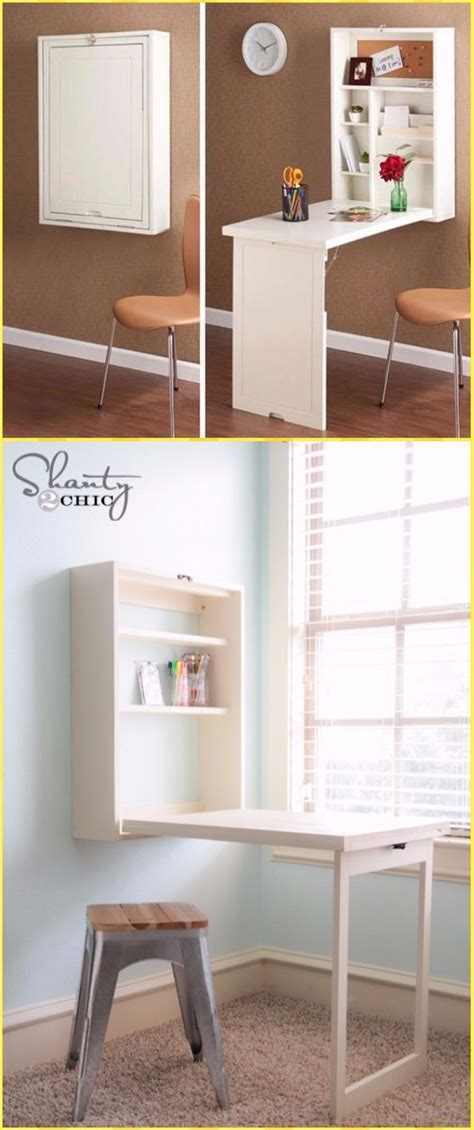 Diy Wall Mounted Desk Free Plans Instructions Diy Murphy Desk
