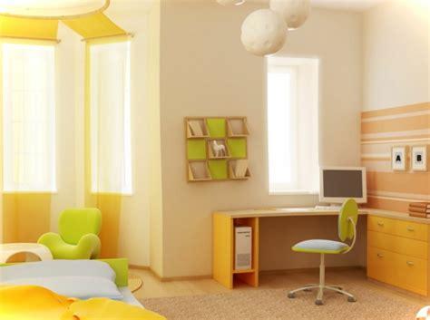 gelbe mädchen schlafzimmer streichen babyzimmer dekor