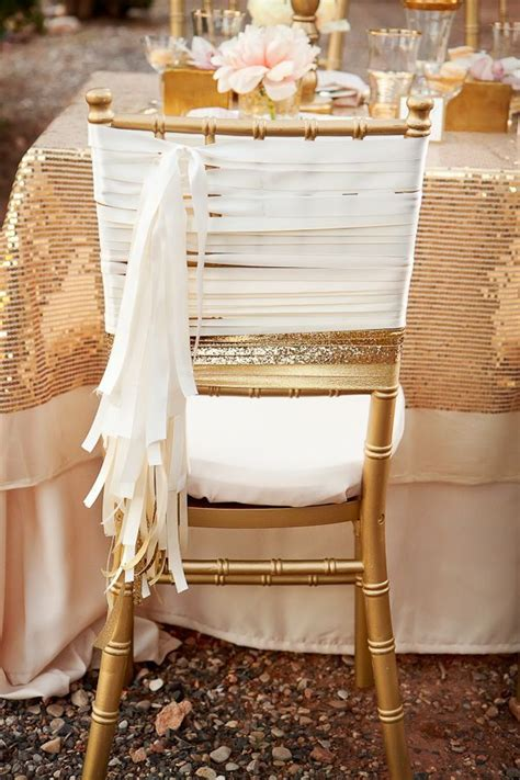 gold painted chair weddings
