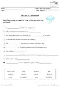 primaryleap co uk weather cloze activity worksheet