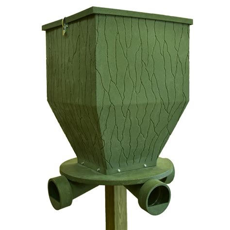 feedbank 300 gravity deer feeder banks outdoors