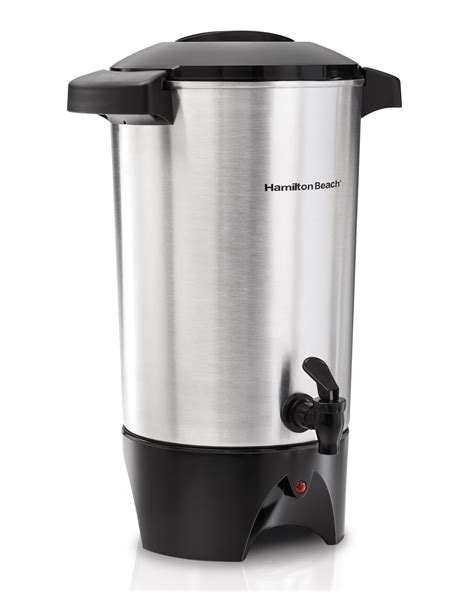 Amazon.com   Hamilton Beach D50065 Commercial 60 Cup Stainless Steel Coffee Urn, Silver: Coffee Urns