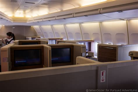 Boeing 747 Cabin Layout by Review Thai Airways Business Class Boeing 747 Hong Kong