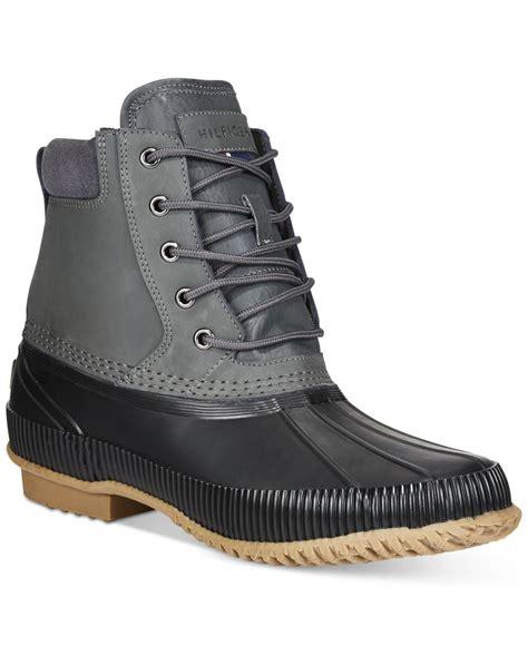 macy s duck boots hilfiger s duck waterproof boots in blue