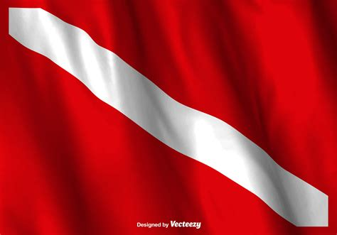 dive flag vector dive flag waving free vector stock