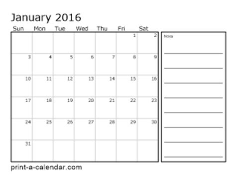 printable calendar 2016 month per page download 2016 printable calendars