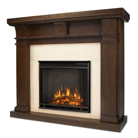 Vintage Electric Fireplace by Real Porter Electric Fireplace In Vintage Black Maple