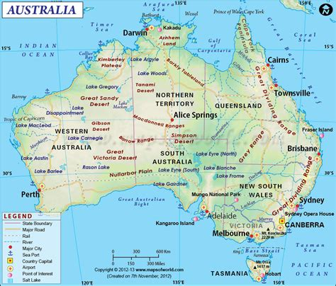astrelia map australia map showing the provinces with their capitals