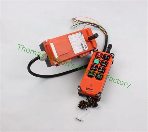 1 Receiver 5 Transmitter 3 Button dc 12v industrial remote switches hoist crane push button switch with 8 buttons 1