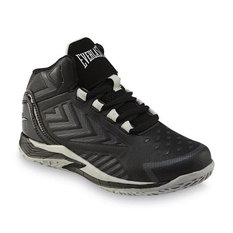 everlast basketball shoes everlast 174 boy s dribble black gray high top basketball shoe