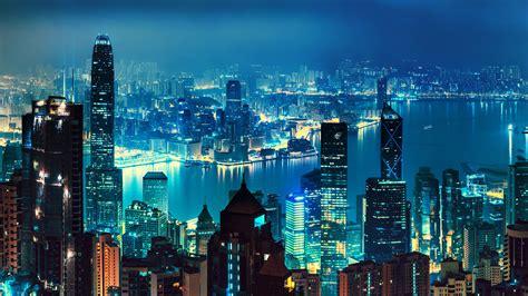 Cityscape Wallpaper by Wallpaper Hong Kong Nightscape Skyline Hd World 2463