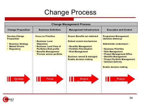 change process template project portfolio management
